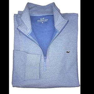 Vineyard Vines Broadcloth Pique Quarter Zip L Boys